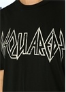 Rock Logo Siyah Baskılı T-shirt