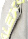 Gri Melanj Kolları Kabartmalı Logolu Sweatshirt