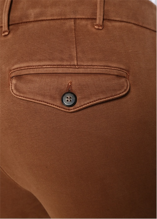 Kahverengi Dar Paça Pantolon
