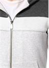 Beyaz Gri Kapüşonlu Sweatshirt
