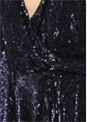 Gallia Çift Yönlü Payetli Mini Abiye Elbise