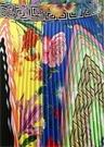 Renkli Çiçek Desenli Pileli Midi İpek Etek