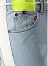 Mavi Yüksek Bel Şerit Detaylı Jean Pantolon