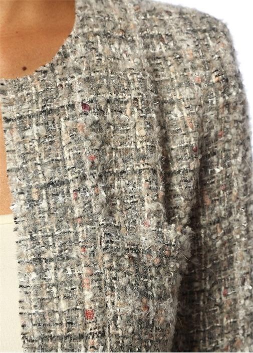 Orlana Slim Fit Gri Tweed Ceket