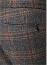 Kahverengi Gri Ekose Desenli Yün Pantolon