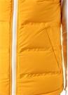 Sarı Kapüşonlu Puff Yelek