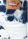 Biker Ski Mavi Batik Desenli Jean Pantolon