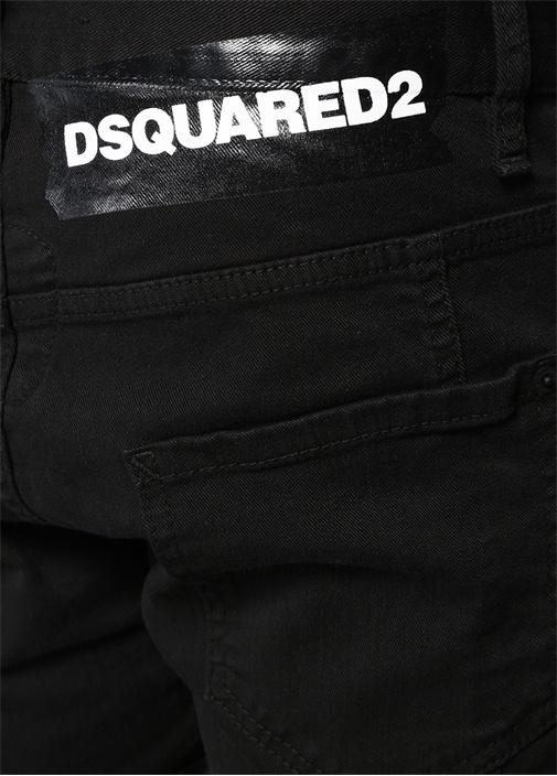 Tidy Biker Siyah Logo Baskılı Jean Pantolon