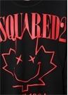 Siyah Kırmızı Logo Baskılı Sweatshirt