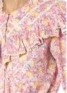 Susanne Pembe Çiçekli Fırfırlı Balon Kol Gömlek