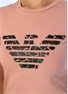 Pembe Logo Baskılı Basic T-shirt