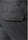 Drop 6 Gri Mikro Kazayağı Desenli Yün Pantolon
