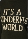Its A Wonderful World Haki Oversize Kaşmir Kazak