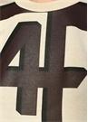 Ekru Kahverengi Logo Baskılı T-shirt