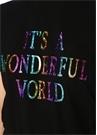 Its A Wonderful World Siyah Oversize T-shirt