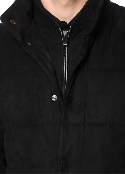 Drop 6 Siyah Yaka Detaylı Dış Ceket