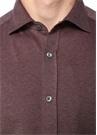 Drop 2 Kahverengi İngiliz Yaka Dokulu Gömlek