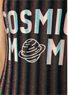 Cosmic Mom Çizgili Sim Dokulu Yazı Baskılı Mayo