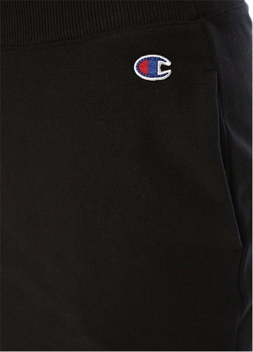 Siyah Logo Patchli Mini Etek