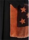 Lacivert Somon Cebi Yıldız Desenli Yün Palto