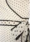 Breeze Beyaz V Yaka Puanlı Maksi Anvelop Elbise