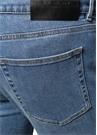 Mavi Normal Bel Yanları Şerit Logolu Jean Pantolon