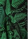 Cheryl Siyah Palmiye Desenli Midi İpek Elbise