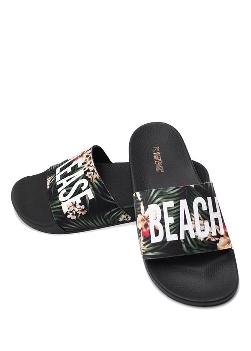 Beach Jungle Siyah Erkek Terlik