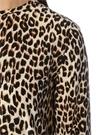 Aubrey Leopar Desenli Yarım Kol Mini İpek Elbise