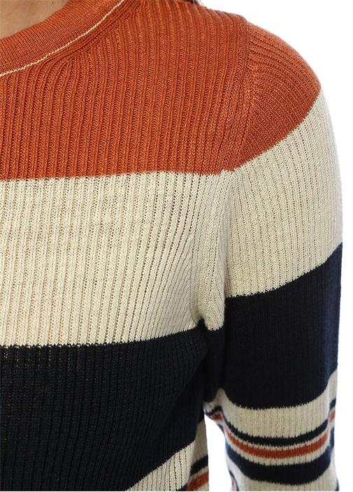 Coxswain Henley Çizgili Uzun Kol Keten Bluz