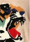 Pudra Karışık Jakarlı Mini Elbise