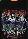 Gradient Tiger Siyah Reglan Kol Sweatshirt