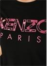 Siyah Pembe Logo Nakışlı T-shirt