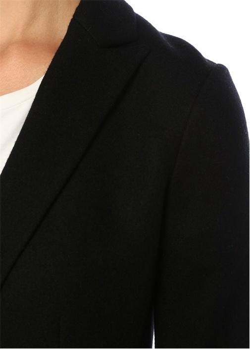 Lexington Tailored Fit Siyah Yün BlazerCeket