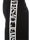 Relaxed Fit Siyah Beyaz Logo Bantlı Pantolon
