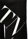 VLTN Siyah Beyaz Logo Baskılı Şort