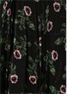 Undercover Rose And Lips Siyah Midi İpek Etek