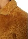 Salvia Hardal Fermuarlı Shearling Deri Ceket