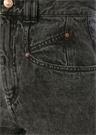 Dominic Gri Yüksek Bel Boru Paça Jean Pantolon