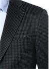 Regular Fit Lacivert Mikro Desenli Yün Ceket