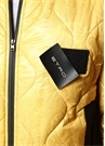 Regular Fit Sarı Siyah Şal Desenli Garnili Mont