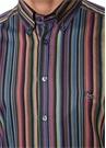 Colorblocked Çizgili Gömlek