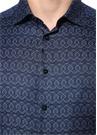 Lacivert İngiliz Yaka Mikro Logolu Gömlek