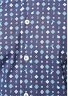 Spread Lacivert Mikro Desenli İngiliz Yaka Gömlek