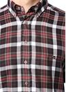 Regular Fit Lacivert Düğmeli Yaka Ekoseli Gömlek