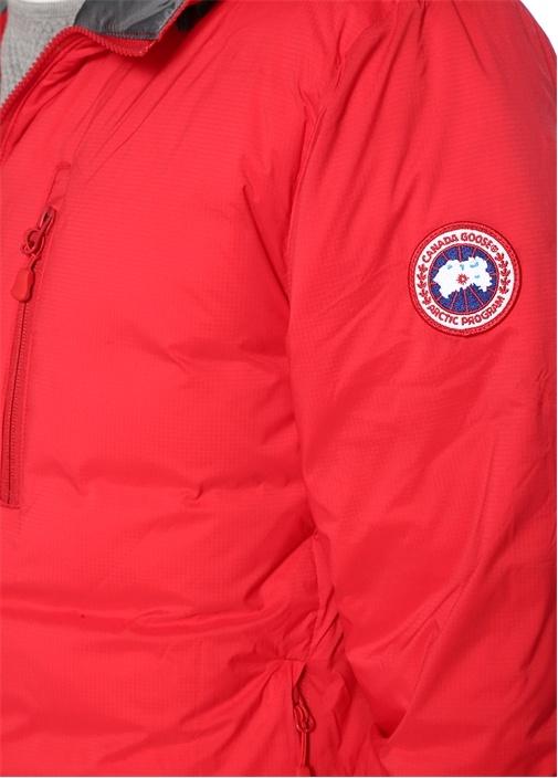 Lodge Kırmızı Kapüşonlu Logolu Puff Mont