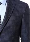 Kei Drop 7 Mavi Mikro Kareli Yün Ceket