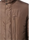 Bej Dik Yaka Beli Büzgülü Dış Ceket