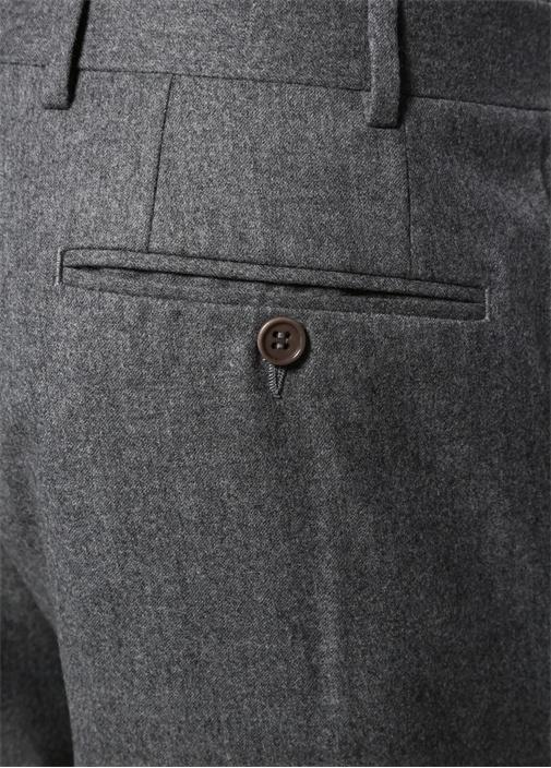 Drop 6 Gri Boru Paça Yün Pantolon