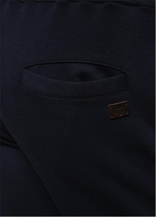 Lacivert Beli Kordonlu Boru Paça Pantolon
